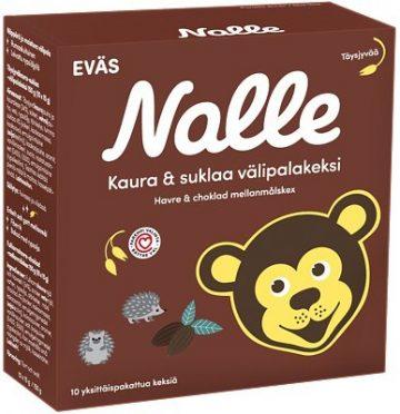 Nalle Välipalakeksi Täysjyväkaura-Suklaa