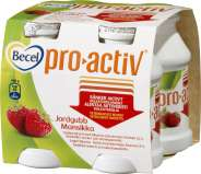 Becel pro.activ jogurttijuoma Mansikka 4-pakkaus
