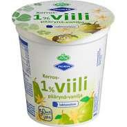 Arla 1% Laktoositon päärynä-vaniljakerrosviili 180 g