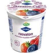 Arla Rasvaton mansikka-mustikka-vadelmajogurtti 200 g