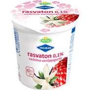 Arla Rasvaton vadelma-vaniljajogurtti 200 g