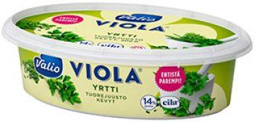Valio Viola® kevyt 200 g yrtti tuorejuusto laktoositon