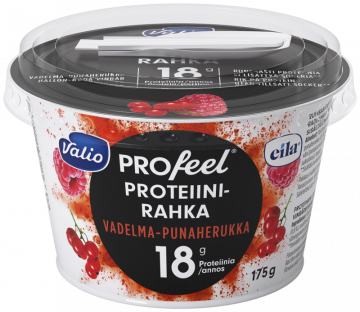 Valio Profeel proteiinirahka, vadelma-punaherukka keinomakeutettu