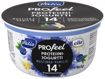 Valio PROfeel® proteiinijogurtti mustikka-vanilja laktoositon