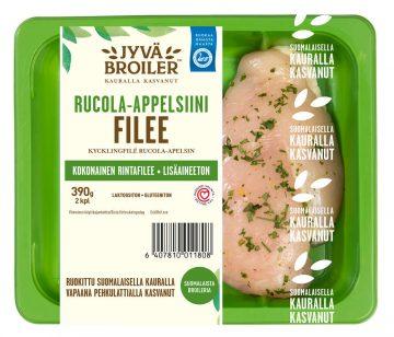 Jyväbroiler 390g Broilerin Filee Rucola-appelsiini