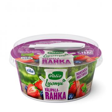 Valio Luomu™ välipalarahka 150 g mansikka-mustikka laktoositon