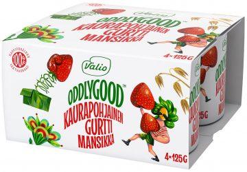 Valio Oddlygood® kaurapohjainen gurtti 4*125 g mansikka