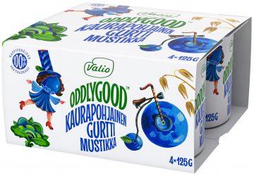 Valio Oddlygood® kaurapohjainen gurtti 4*125 g mustikka
