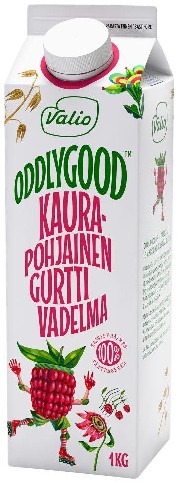 Valio Oddlygood® kaurapohjainen gurtti 1 kg vadelma