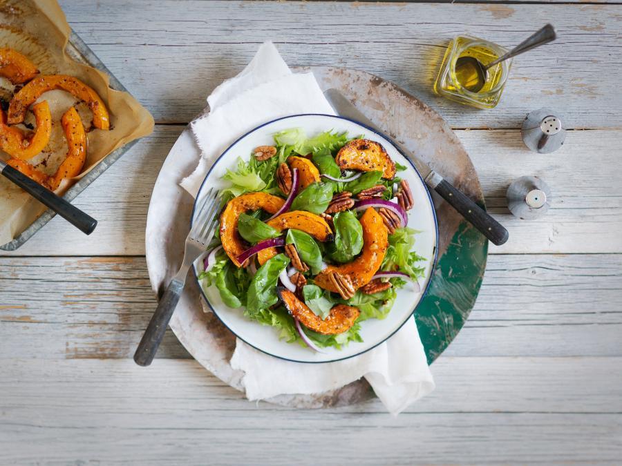 Paahdettukurpitsa Salaatti Elina Himanen