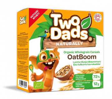 TwoDads® OatBoom Luomu täysjyvä kauramuro 375g