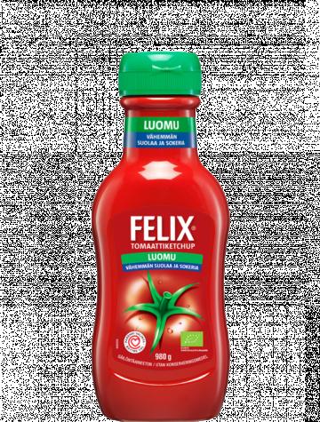 Felix 980g vähemmän suolaa ja sokeria luomu ketchup