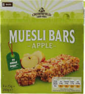 Crownfield Muesli Bar Apple (no added sugar) 200 g -myslipatukka omena (ei lisättyä sokeria)